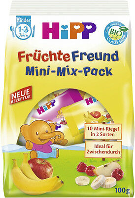 HiPP Organic Mini-Mix Fruit Snack-Pack - 100g- Made in Germany