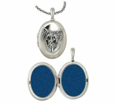 Chinese Crested Photo Locket Jewelry Sterling Silver Handmade Dog Photo Locket C