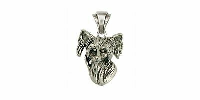Chinese Crested Pendant Jewelry Sterling Silver Handmade Dog Pendant CC1-P