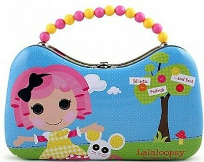 Lalaloopsy Tin Box Carry All Scoop Purse with Beaded Handle - Blue