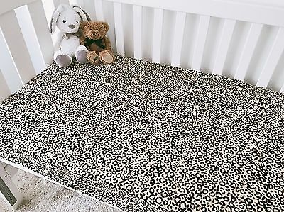 Soft Flannel Leopard Cot Fitted Sheet