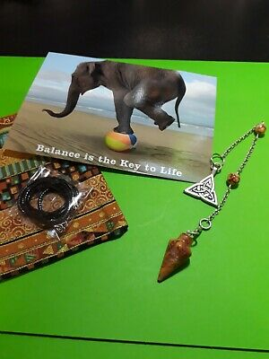 Sodalite Seahorse Pendulum Crystal Gemstone Necklace+ Extras & Booklet Wicca