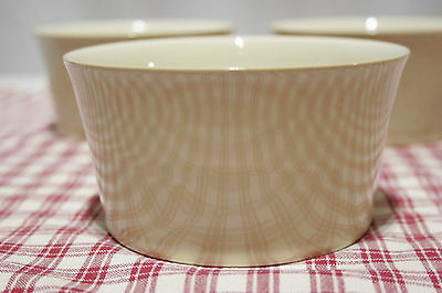 LOT of 3 Denby DRAMA Soup / Cereal Bowls in Cream. MINT!