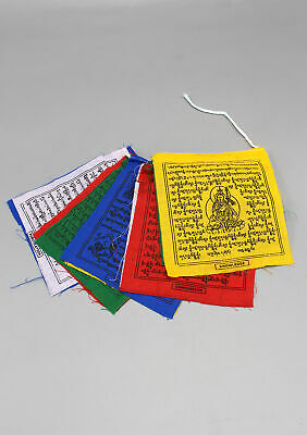 Traditional Five Colored Cotton Prayer Flags Small Gift Pack of 5 Rolls PF02A
