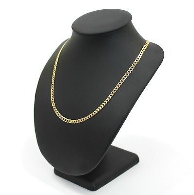 Unisex 9K Solid Yellow Gold Curb Link Chain Necklace 14.1 Grams