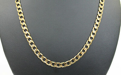 Ladies 9K Solid Yellow Gold Curb Link Chain Necklace 32.7 Grams