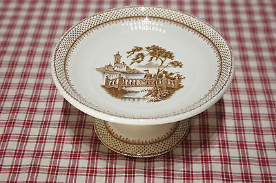 """Adams Antoinette  Small 6 1/4"""" FOOTED CAKE, DESSERT  PEDESTAL STAND PLATE MINT!"""