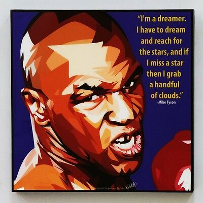 Mike Tyson canvas quotes wall decals photo painting framed pop art poster