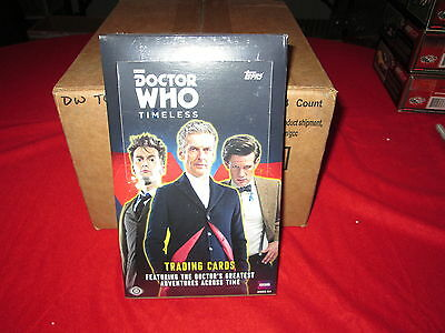 Doctor Who Timeless Trading Cards Factory Sealed Case 12 Boxes Topps Autographs