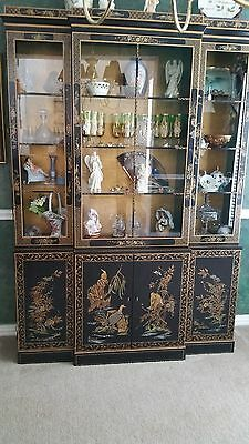 Vintage Drexel China/ Display Chinoiserie Cabinet