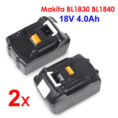 2 X New 18V 4.0AH Lithium Ion Battery LXT For Makita BL1830 BL1840 Replace