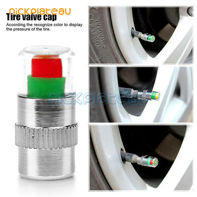 4PCS Car Auto Tire Pressure Valve Dust Cap Indicator Sensor Monitor Eye Alert