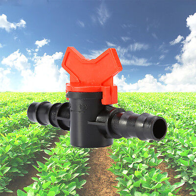Water ConnectorHose Pipe Tap Drip Irrigation Barb Ball Garden Fashion Valve New
