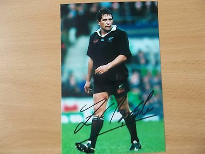 Zinzan Brooke, New Zealand Rugby Player, Signed 6 X 4 Photo
