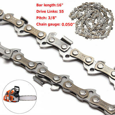 16'' Chainsaw Saw Chain Blade 3/8LP .050 55DL For 009 011 017 018 020T MS170/180