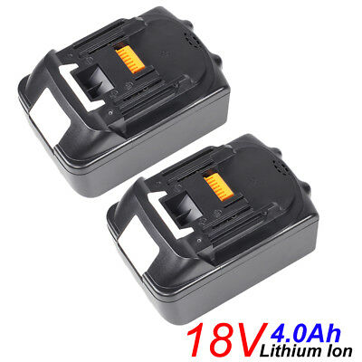 2 X 18V 4.0Ah Lithium Ion Battery For Makita LXT BL1815 BL1830 BL1840 UK