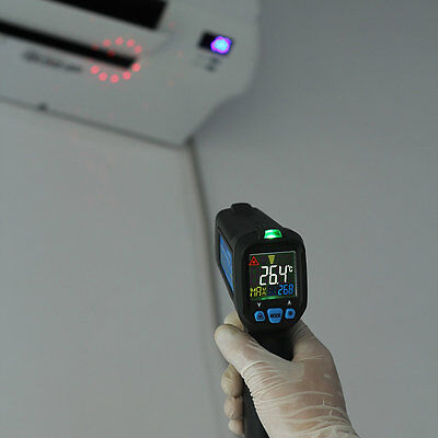 Color LCD Digital Non-contact IR Laser Thermometer -30-500鈩 UK