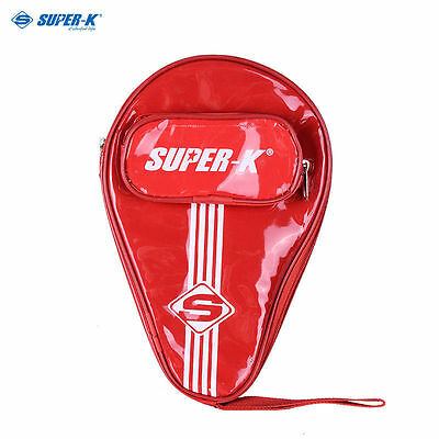 Portable Waterproof Ping Pong Paddle Bat Case Cover Table Tennis Racket Bag Red