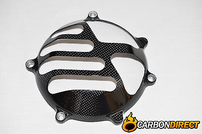 Ducati Dry Clutch Cover In 100% Carbon Fibre Fits Most Models Gloss Design 5
