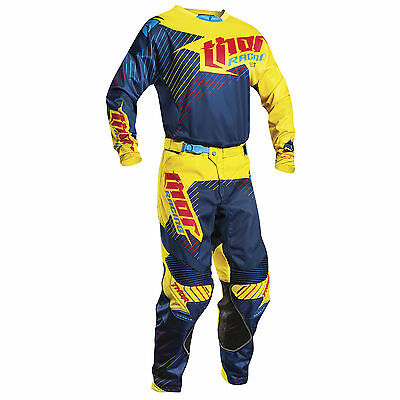 Motocross,enduro,completo Thor Core Hux Nevy-Yellow 2017
