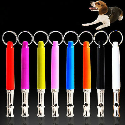 8 Colors Pet Dog Whistle Anti Bark Ultrasonic Sound Dogs Training Flute Tools
