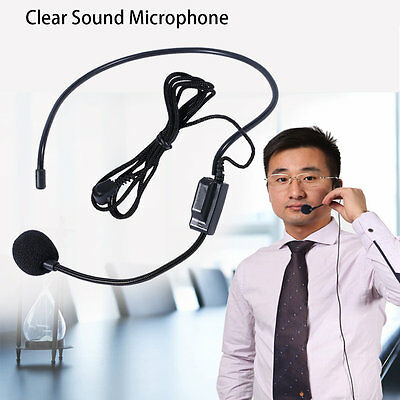 First Vocal Wired Headset Microphone microfono For Voice Amplifier Speaker UK