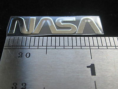 NASA NASA METAL DECAL STICKER ONE INCH Great for Laptop Cellphone