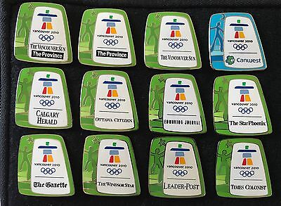 2010 Vancouver Olympic Games Official Local Media Pin Badge Full Set---Brand New