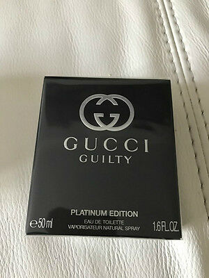 Gucci Guilty Platinum   Eau De Toilette 50ml for Women 100% Genuine