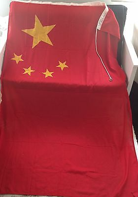 "GENUINE EX ROYAL NAVY LARGE FLAG CHINA BRASS INGLEFIELD CLIPS 6 ft 11"" x 4ft 5"""