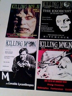 KILLING MOON x 4  ISSUES LOT. HORROR FILM FANZINE.