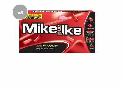 905904 12 x 141g BOXES OF MIKE & IKES, RED RAGEOUS CHEWY FRUIT FLAV. CANDIES!