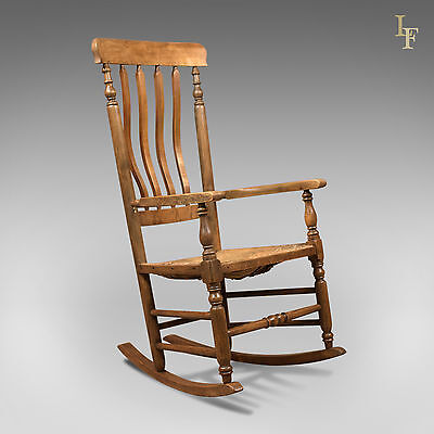 Antique Rocking Chair, Georgian Oak and Ash Armchair, English, Country c.1800