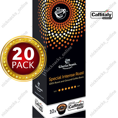 20 Capsules Gloria Jeans Coffee Special Intense Roast Pods Caffitaly System