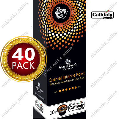 40 Capsules Gloria Jeans Coffee Special Intense Roast Pods Caffitaly System