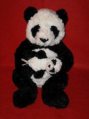 Gund Plush Panda Bear And Baby Cub Lana 31033 16 ins Excellent Condition