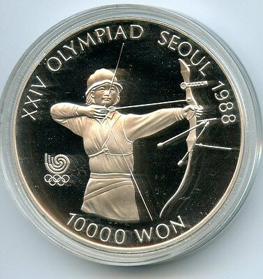 Korea  1988 Olympics Error Date 10,000Won Proof With Coa And Box