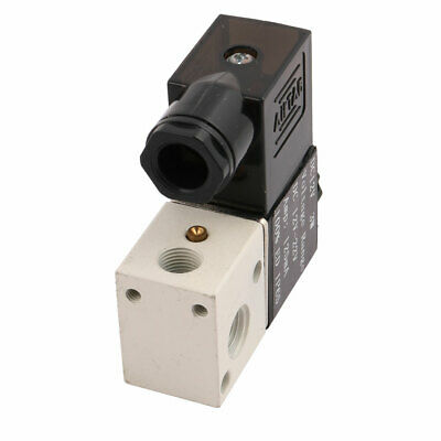 3V1-06 DC 12V 3W 2 Position 3 Way 1/8PT Thread Pneumatic Solenoid Valve