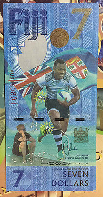 """FIJI 7 Dollars 2017  """"Commemorative of Gold Medal Rugby in the Rio Olympics UNC"""