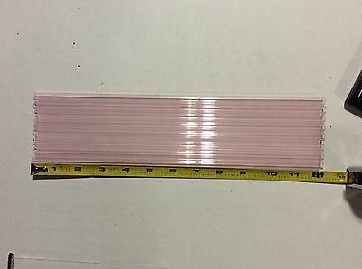 """8 FEET 9mm x 2mm Pink Colored Pyrex Tubing Glass Blowing Boro Tubes 12"""" QTY=8"""