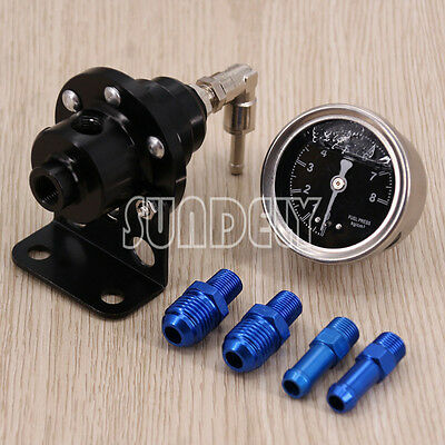 Precision Adjustable Fuel Pressure Regulator Injection / Turbo Car - Black UK