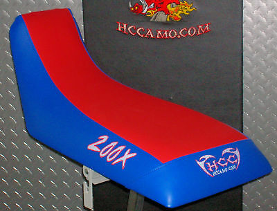Honda ATC 200x seat cover red/blue 1986