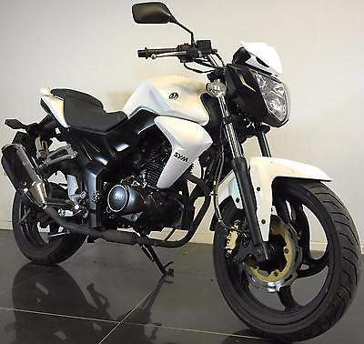 2016 66 Sym Pu Wolf 125 N White Naked Commuter Motorcycle Hpi Clear Trade Sale