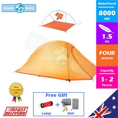 NEW Premium 1 2 Person Camping Tent Hiking Travel Winter Double Layer Outdoor