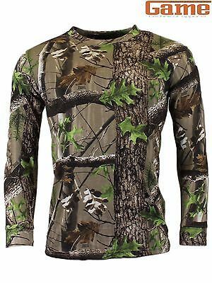Game Trek Camouflage Long Sleeve T-Shirt Camo Hunting, Shooting & Fishing New in
