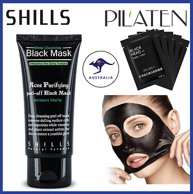 Black Mud Facial Care Deep Cleansing Peel Off Removal Blackhead Nose + Face Mask