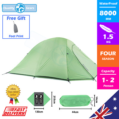NEW 2 Man Person Tent Waterproof Hiking Travel Snow Winter 4 Season Double Layer