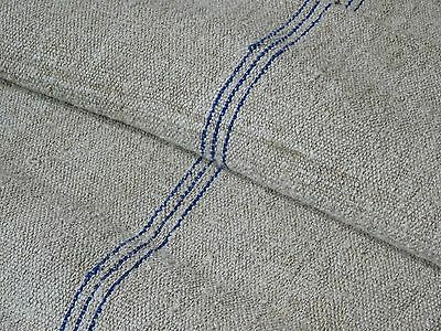 Antique European Feed Sack GRAIN SACK Blue Stripe # 8675