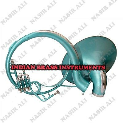"SOUSAPHONE Bb PITCH 21"" BELL WITH FREE CARRY BAG AND MOUTHPIECE, GREEN COLOR"
