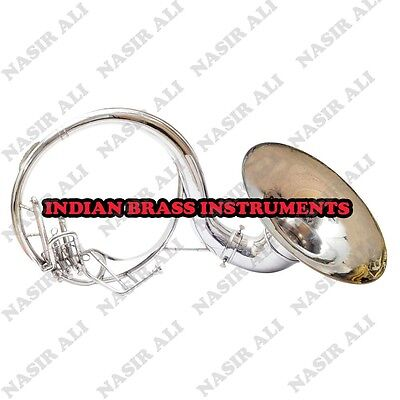 "SOUSAPHONE Bb PITCH 21"" BELL WITH FREE CARRY BAG AND MOUTHPIECE, NICKEL"
